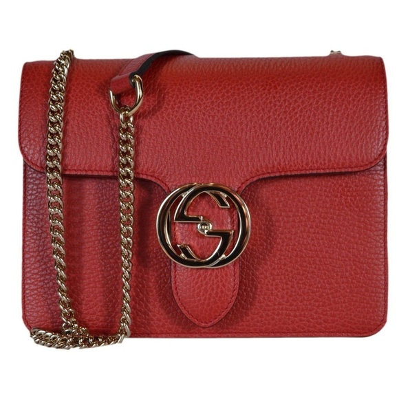 74f2b8896d50 Gucci Bags | Nwt Gg Marmont Red Leather Crossbody Bag | Poshmark